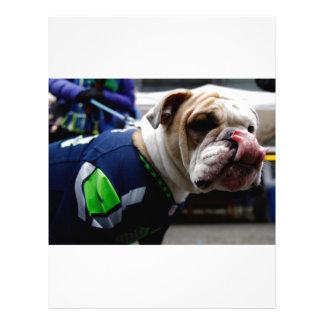 Bulldog Team Spirit Letterhead Template