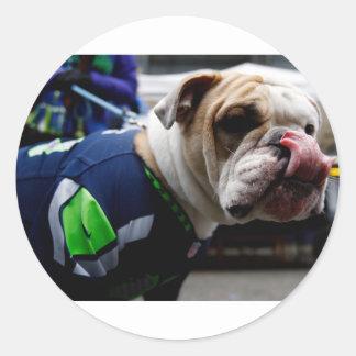 Bulldog Team Spirit Round Sticker