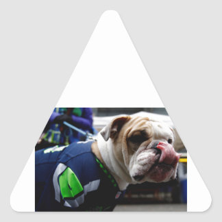 Bulldog Team Spirit Triangle Sticker