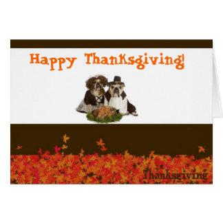Bulldog thanksgiving card