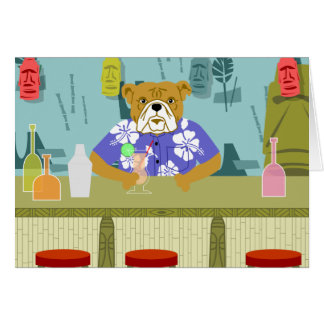 Bulldog Tiki Bar Card