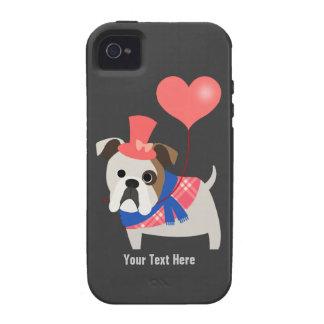 Bulldog Valentine (customizable) iPhone 4/4S Cases