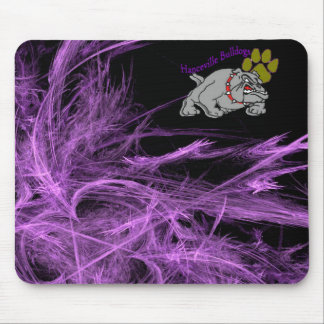 Bulldog w/Paw & Purple Mouse Pad