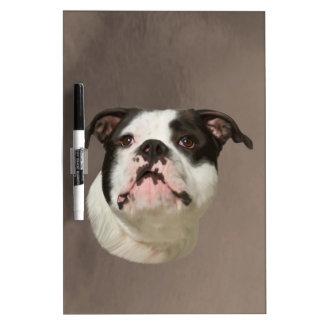 Bulldog Water Color Art Painting Dry Erase Board