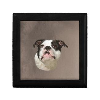 Bulldog Water Color Art Painting Gift Box