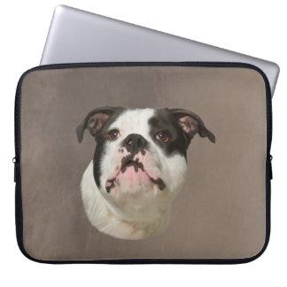 Bulldog Water Color Art Painting Laptop Computer Sleeve