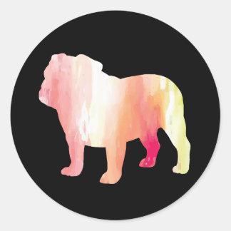 Bulldog Watercolor Stickers