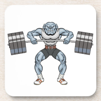 bulldog weight lifter coaster