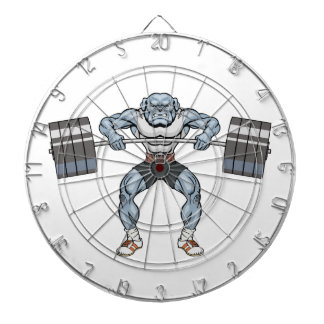 bulldog weight lifter dartboard