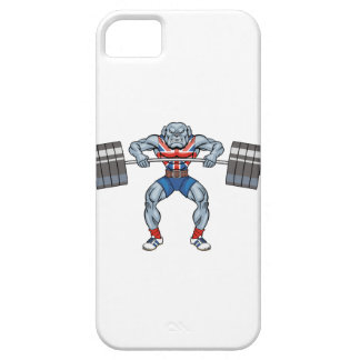 bulldog weight lifter iPhone 5 cases
