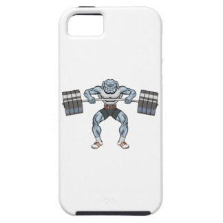 bulldog weight lifter iPhone 5 cover