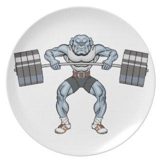 bulldog weight lifter plate