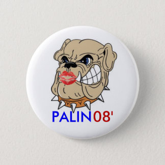 Bulldog with Lipstick 2 Inch Round Button