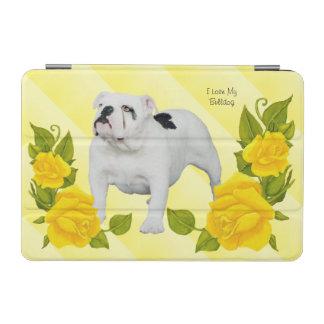 Bulldog with Yellow Rose iPad Mini Cover