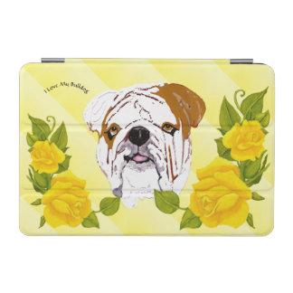 Bulldog with Yellow Roses iPad Mini Cover