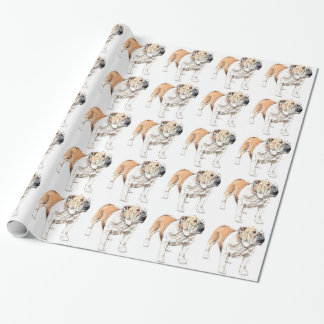 Bulldog Wrapping Paper
