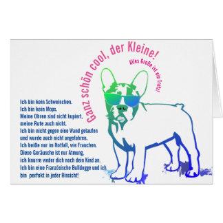 Bulldogge Karten Note Card