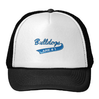 BULLDOGS ARE NUMBER ONE MESH HATS