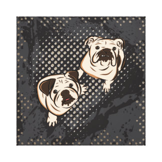 Bulldogs Canvas Print
