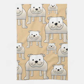Bulldogs Design, in Neutral Colors. Kitchen Towel