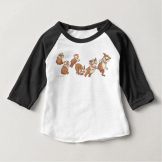 bulldogs horizontal baby T-Shirt