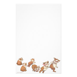 bulldogs horizontal customized stationery