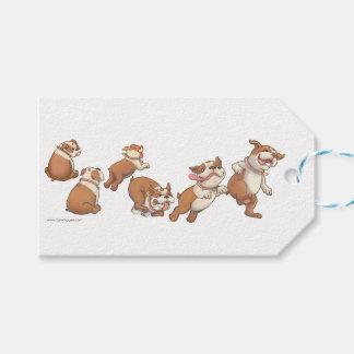 bulldogs horizontal gift tags
