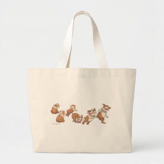 bulldogs horizontal large tote bag