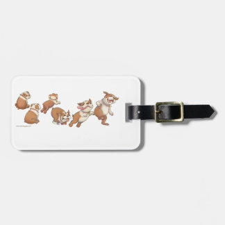bulldogs horizontal luggage tag