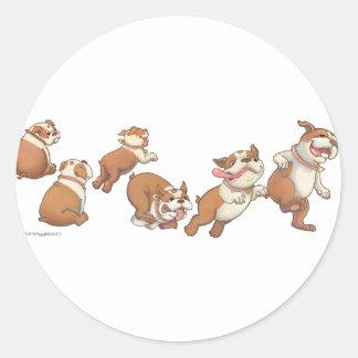 bulldogs horizontal round sticker