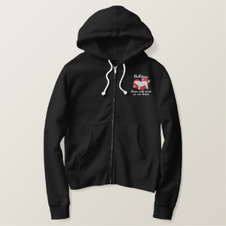 Bulldogs Leave Paw Prints Women's Embroidered Hoodie