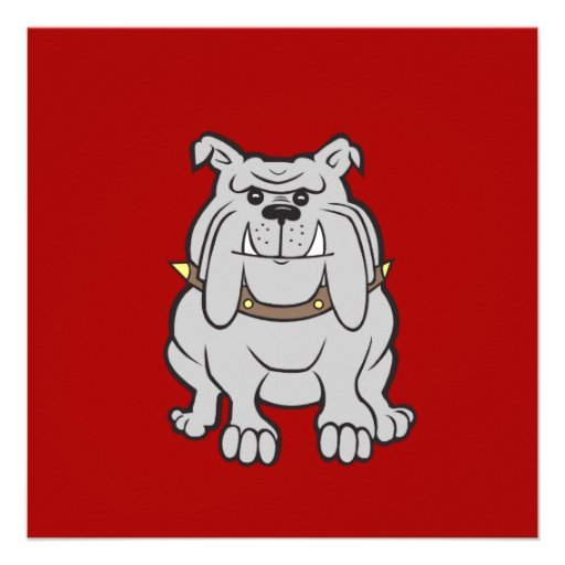 Bulldogs Mascot on Red Dog Lover Gifts Announcement