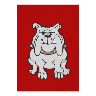 Bulldogs Mascot on Red Dog Lover Gifts Personalized Invites