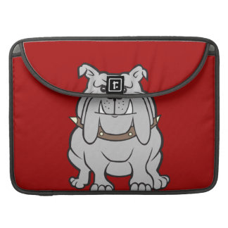 Bulldogs Mascot on Red Dog Lover Gifts Sleeve For MacBook Pro