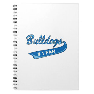 BULLDOGS NUMBER ONE FAN SPIRAL NOTE BOOK