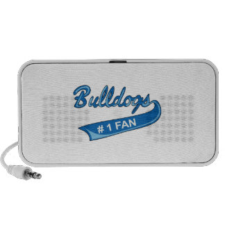 BULLDOGS NUMBER ONE FAN NOTEBOOK SPEAKERS