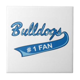 BULLDOGS NUMBER ONE FAN TILES