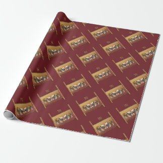 Bulldogs on Asian Design Chinese New Year, Dog Wrapping Paper