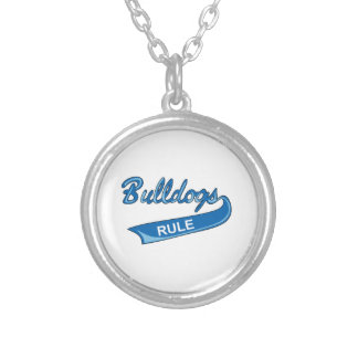 BULLDOGS RULE PERSONALIZED NECKLACE