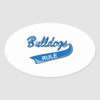 BULLDOGS RULE OVAL STICKER