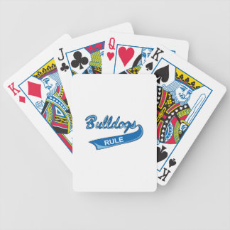 BULLDOGS RULE BICYCLE PLAYING CARDS