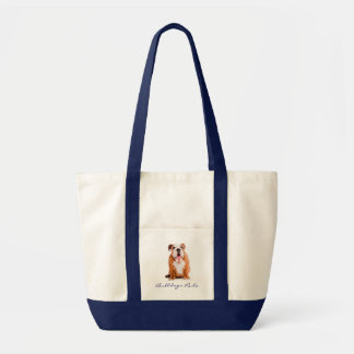 Bulldogs Rule Puppy Impulse Jumbo  Canvas Tote Bag