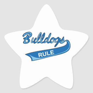 BULLDOGS RULE STAR STICKER