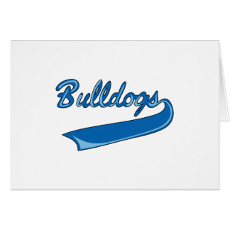 BULLDOGS SPORTS TEAM GREETING CARD
