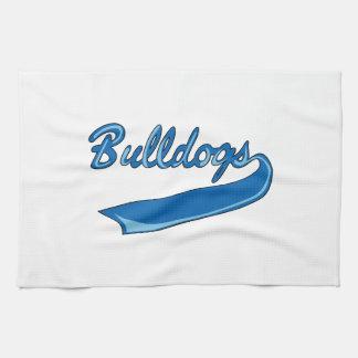 BULLDOGS SPORTS TEAM KITCHEN TOWELS