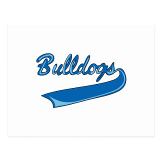 BULLDOGS SPORTS TEAM POSTCARD