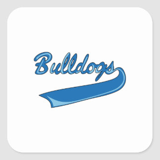 BULLDOGS SPORTS TEAM SQUARE STICKER
