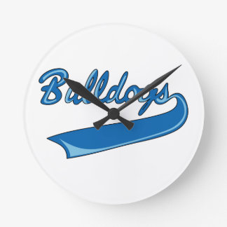 BULLDOGS SPORTS TEAM WALL CLOCK