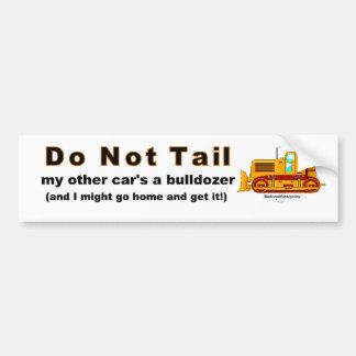 Bulldozer Bumper Sticker