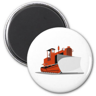 bulldozer construction equipment machinery fridge magnet